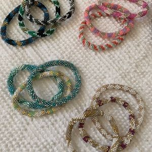 LILY AND LAURA beaded bracelets - see description
